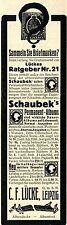 C.F. Lücke Leipzig BRIEFMARKEN Sammlerbedarf Historische Reklame von 1915