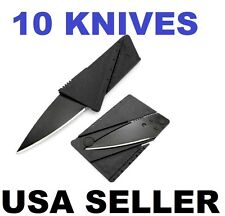 10 Credit Card Knives Pocket wallet knife Survival Steel Blade Tool folding thin
