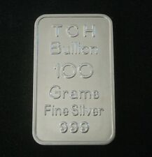 100 GRAM SILVER BAR VERY RARE TCH BULLION