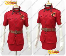 Hellsing Ultimate Victoria Seras Cosplay Costume Red uniform