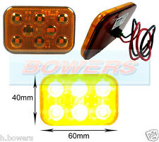 12V/24V AMBER LED FLASHING RECOVERY STROBE HAZARD BEACON LIGHT/LAMP VERY BRIGHT