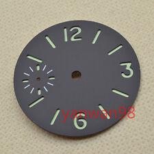34.5mm black sandwich sterile Green Luminous dial Fit ETA 6497 movement Watch 13
