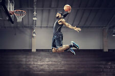 "Lebron James Basketball Star Fabric poster 36"" x 24"" Decor 112"