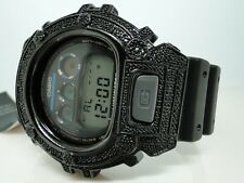 Mens G shock G-Shock Genuine Diamond Bezel Black Metal 6900 Watch