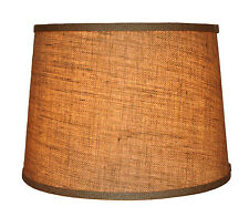 "Urbanest Burlap French Drum Style Lamp Shade 12x14x10"" Lampshade Spider Fitter"
