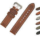 Mens Genuine Leather Watch Band Strap 20 22 24mm Brown Black for Panerai iWatch