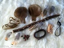 Native American Style Rattle/Shaker Kit.Make Your Own Red Deer Rawhide Rattle.