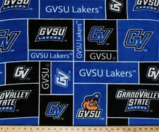 GVSU Grand Valley State University Lakers Fleece Fabric Print sgvsu014s (Royal)