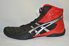 Asics Split Second 9 Mens WRESTLING Shoes size 9.5 NEW RED SILVER BLACK