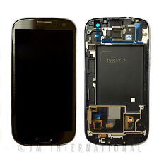 Gray Samsung Galaxy S3 i747 T999 LCD & Touch Screen w/ Frame Assembly NO LOGO