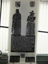 Brass rubbing WHITCHURCH HAMPSHIRE RICHARD BROOKE & ELIZABETH TWYNE 1603 .. 54/2