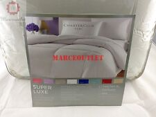 CHARTER CLUB Super Luxe 300 Thread Count KING Comforter White