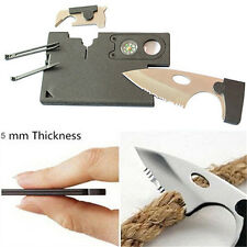 10 in 1 Multi Purpose Pocket Credit Card Survival Knife Outdoor Camping Tools nb