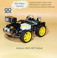 Arduino WiFi Video Robot , Programmable 4WD Smart Car kit(Style Two).