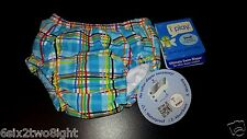 i-play Ultimate Swim Diaper Small 3-6 Month 10-18 lb UPS 50+ Baby Boy Girl Plaid