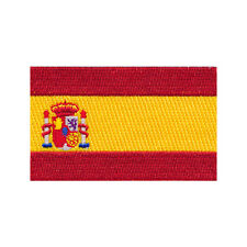 60 x 35 mm Spanien Flagge Spain Flag Barcelona Patch Aufnäher Aufbügler 0678 B