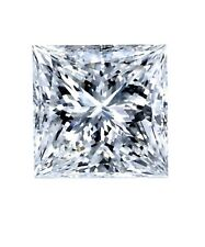 Certificate 0.71ct Princess Excellent Cut Diamond with H Color VS2 Clarity Gift