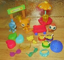 HASBRO LITTLEST PET SHOP LPS THEMED  PLAY LEMONADE STAND COMPLETE SET LOT