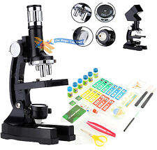 100x-1200x Students Projection Microscope Advanced Science Set Kit Accessories