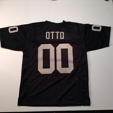 Oakland Raiders Jim Otto UNSIGNED CUSTOM Black Jersey - XL