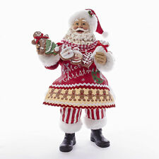 Santa & Gingerbread Collectible Figure Kurt Adler ka c7451 NEW Fabriche