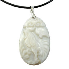 Natural Sea Shell Chinese Zodiac Happy Lucky Rooster Amulet Pendant