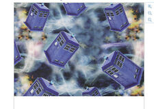 Dr Who Tardis Fabric Poly Cotton 1m x 1.47m