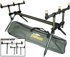 DINSMORES Deluxe Carpa Syndicate GOAL POST Canna Da Pesca Pod con BUZZ BAR & Custodia