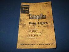 CAT CATERPILLAR 4 1/2 6 CYLINDER D6 DW10 D318 ENGINE SERVICE SHOP REPAIR MANUAL