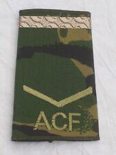 Rangschlaufen:Lance Corporal, ACF,DPM, Army Cadet Force, brauner Streifen