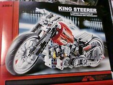 BUILD MOTORBIKE EXPLOITURE COMPLETE FROM BLOCKS 378 PCS KING STEERER