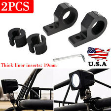 "2 X 1"" inch Off Road Bull Mount Bracket Tube Clamps For HID ATV Led Light Bar"