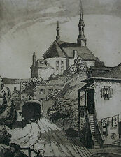 STANLEY F. TURNER R.C.A. - Château-Richer - Etching on Paper - Canada - 1932