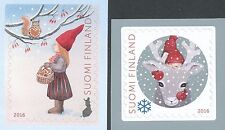 Finland 2016 MNH Set of 2 Stamps - Christmas - Reindeer - Issued Nov 10, 2016