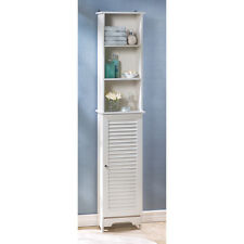 "NANTUCKET 65"" TALL BATHROOM KITCHEN ORGANIZER STORAGE SHELF CABINET DECOR~14705"