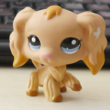 RARE Cider Brown bow Cocker Dog pubby # LITTLEST PET SHOP LPS mini Action Figure