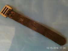 Antique Leather Strap Brass Buckle