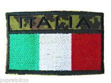 Bandiera Italia Patch Toppa Rettangolare Mimetica Vegetata Italiana Militare Ner