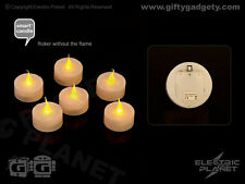 Smart Candle Safe Flame Battery-Powered LED Tealights (Pack of 6)