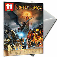 LORD OF THE RINGS - PERSONALISED  Birthday Card Large A5 + Envelope