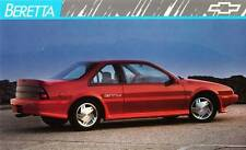 Old Print. Red 1989 Chevrolet Beretta GTU Auto Ad