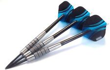 Tungsten Darts Set - 23g Barrels + Nylon Dart Shafts Stems + Pentathlon flights