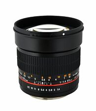 Rokinon 85mm F1.4 Aspherical Lens for Pentax Digital SLR - 85M-P