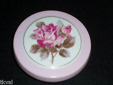 Vintage BONE CHINA PINK TRINKET BOX PINK ROSE