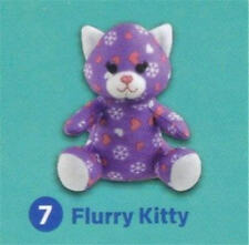 "Build a Bear 4"" Purple Flurry Kitty McDonald's 2015 #7 Happy Meal Toy NEW"
