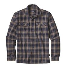 Patagonia Men's Fjord Flannel Shirt Size Small Color Valley Oak: Navy Blue