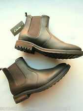 Clarks Chelsea Botas Brown Uk 8 Euro 42 No Cuero