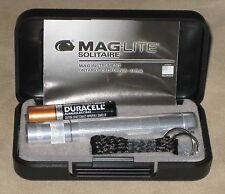 Maglite Solitaire Silver maglight  mag-lite   mag-light