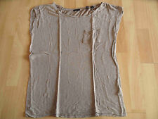 ESPRIT collection schönes Viskoseshirt taupe Gr. S TOP KY215