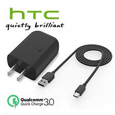 OEM HTC 10 FAST CHARGER+4Ft 18W USB Type-C Cable Quick Charge 3.0